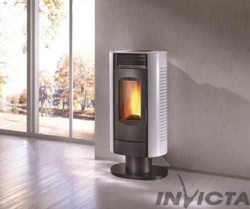 Arenga LP6 on pedestal pellet stove